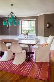 Pink Rugs For Living Room A Modern Bohemian Dining Room By Design Manifest Pink Rug Blue