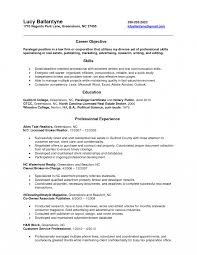 Resume Objective For Paralegal Sample Objectives Entry Level Cover