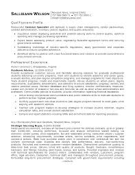 contract specialist resume