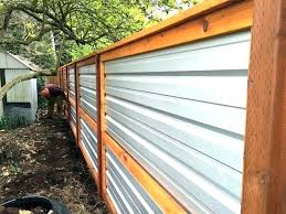 corrugated fence metal cost panel ideas iron steel plans