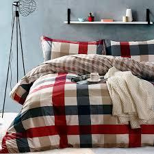 100 cotton black white plaid bedding sets queen double size duvet cover set bed fit sheet for kids and s bed white duvet cover king quilt bedding sets