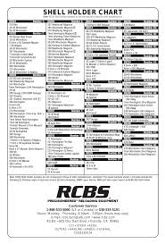 Shell Holder Chart Us Or Canada Or Rcbs Rock Chucker