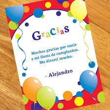 Feliz Cumpleanos Personalized Thank You Notes