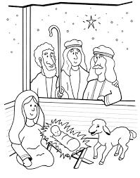 Kerst Kleurplaat Herders Bij Kribbe
