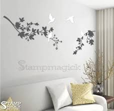 vinyl wall art branch leaves wall decal