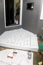diy painted brick pavers so much