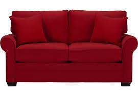 Cindy Crawford Home Bellingham Cardinal Sleeper Loveseat - Sleeper Loveseats  (Red)