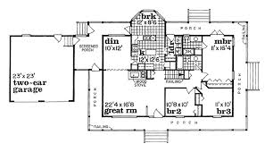 Country Home Plan  4 Bedrms 3 Baths  2110 Sq Ft  1231040Country Floor Plans