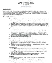 Cover Letter For Chief Of Staff Position Executive Director Non Profit Resume Sample Cover Letter For