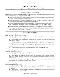 Resume Templates For Construction Resumes For Excavators Resume