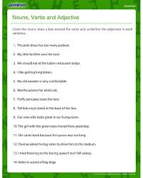 Nouns, Verbs and Adjectives – Free Grammar Worksheet for Fourth ...