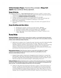 cover letter examples of critical essays examples of critical cover letter critical essay how to write a critical sample essays writing examplesexamples of critical essays