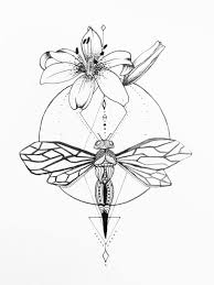 Dragonfly And Hybiscus Tattoo By Grisouicshdeviantartcom On