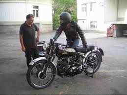 motorcycle vincent black shadow 1954 youtube