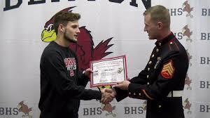 United States Marine Officer Benton Senior Wrestler Earns United States Marine Corps