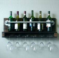 mount wooden bath rack with wine glass holder pallet