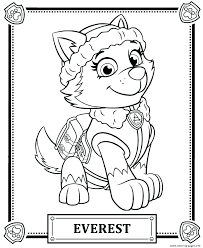 Chase Coloring Page Rubble Paw Patrol Pages Plays With And Free