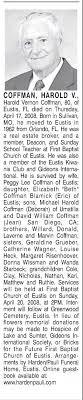 Obituary for Harold Vernon COFFMAN (Aged 80) - Newspapers.com