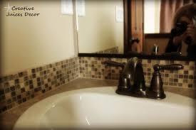 Bathroom Backsplash Ideas Bathroom Ideas White Oval Bathtub With - Tile backsplash in bathroom