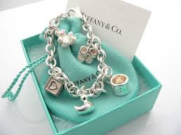tiffany co silver baby duck cup shoes bear charm bracelet bangle excellent
