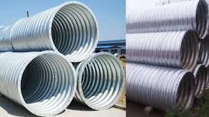 integral galvanized corrugated steel pipes