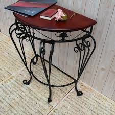 wrought iron and wood furniture. Continental Iron Coffee Table And A Few Side Tables Wrought Entrance Round Wood Furniture