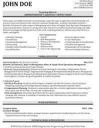 Logistics Management Resume Top Logistics Resume Templates Samples