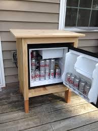 Refrigerator Outdoor Dorm Fridge Turned Outdoor Refrigerator Home Improvements