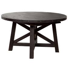 yosemite round extension dining table in cafe