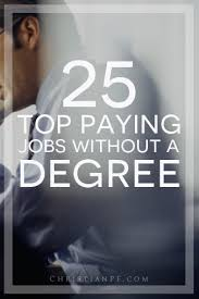 best high paying jobs out a degree