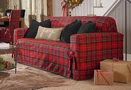 plaid sofa red leather sofa plaid couch