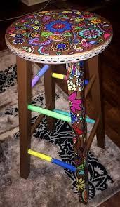 whimsical painted furnitureReserved Custom Order for Katie Riley by dannimacstudios on Etsy