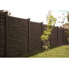 brown vinyl fence panels. W EcoStone Dark Brown Composite Fence Panel Vinyl Panels
