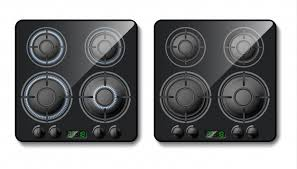 gas stove top. Contemporary Stove Realistic Gas Stove Black Cooker Top With Burners Flame Hobs  Fire Free On Gas Stove Top