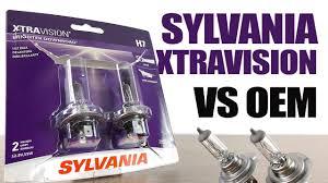 Sylvania Xtravision Vs Oem Original Headlight Bulbs Comparison