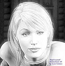 Brigid face pencil sketch.jpg | Susan Summers | Flickr