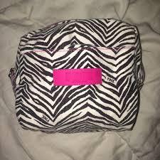 victoria s secret pink makeup bag travel zebra