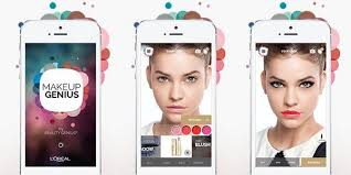 it is free to on ios and android and it helps you try before you for real to see which make up shade suits your skin better