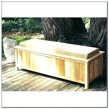 box bench seat outdoor wood garden with storage planter build deck