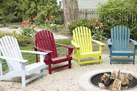 spray paint a wooden adirondack chair