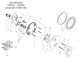 hansgrohe axor mondaro shower valve 18700 spares breakdown diagram