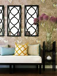 living room wall decor mirrors