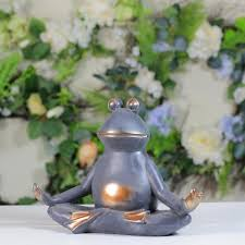 lotus yoga position garden statue