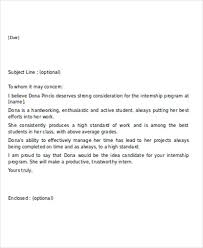 Intern Recommendation Letter Sample 7 Sample Internship Reference Letters Free Samples Examples