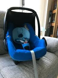maxi cosi blue car seat pebble group 0 watercolour baby birth to kg very good condition maxi cosi blue car seat sky