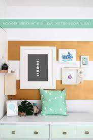 The Nest Free Printable Moon Phase Art And Pattern