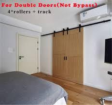 Bypass Barn Door Hardware 4 20ft Wood Sliding Barn Door Hardware Closet Kit Single Double