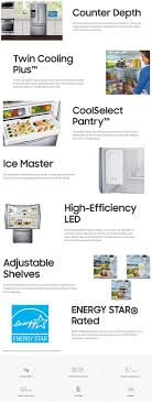 Refrigerator Options Samsung 225 Cu Ft French Door Refrigerator In Stainless Steel