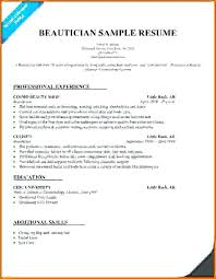 Cosmetologist Resume Template Classy Cosmetologist Resumes New Sample Resume For Cosmetology Student On