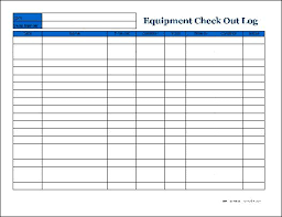 Equipment Checkout Form Template Excel Best Photos Of Equipment Check Out Form Template Excel